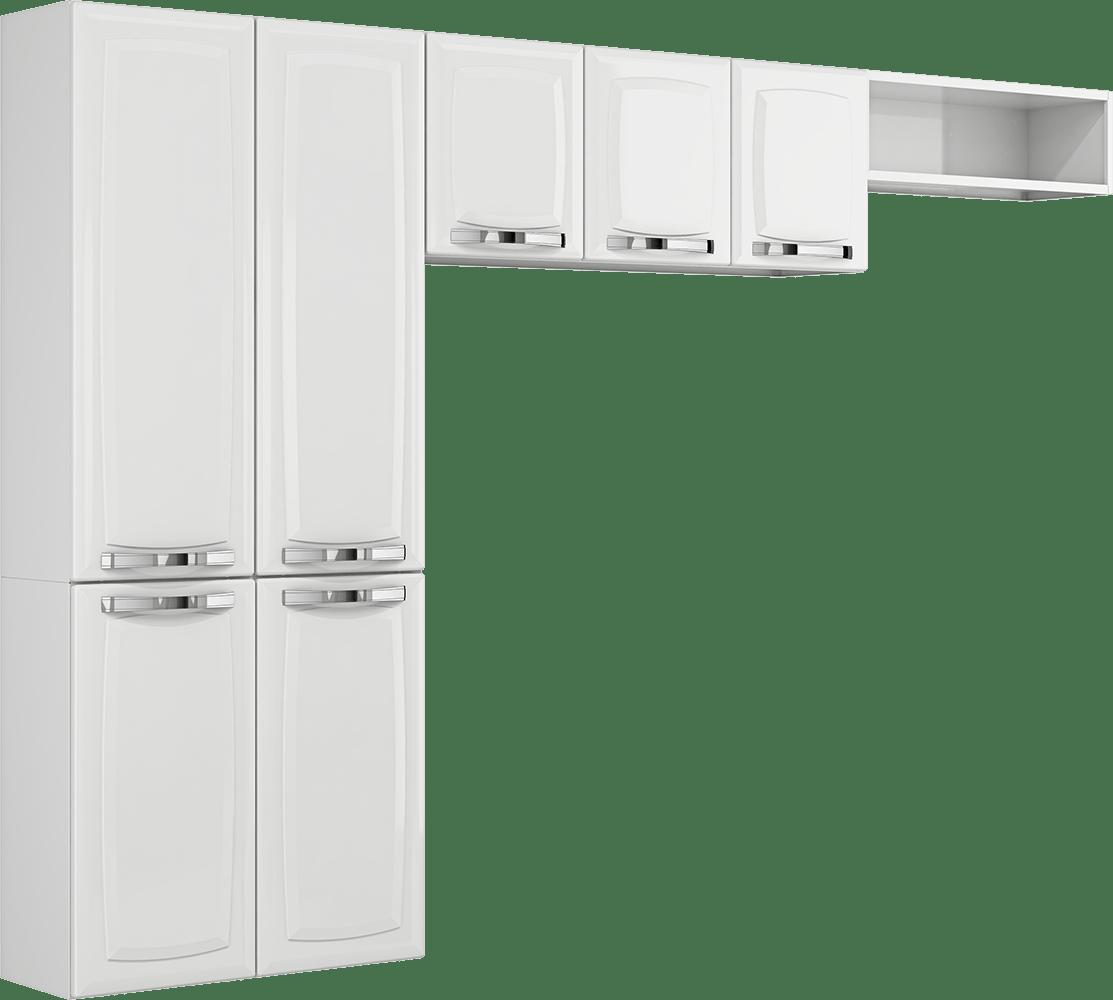 Cozinha de Aço 3 Peças 7 Portas Itatiaia Rose Branco #555652 1113 1000