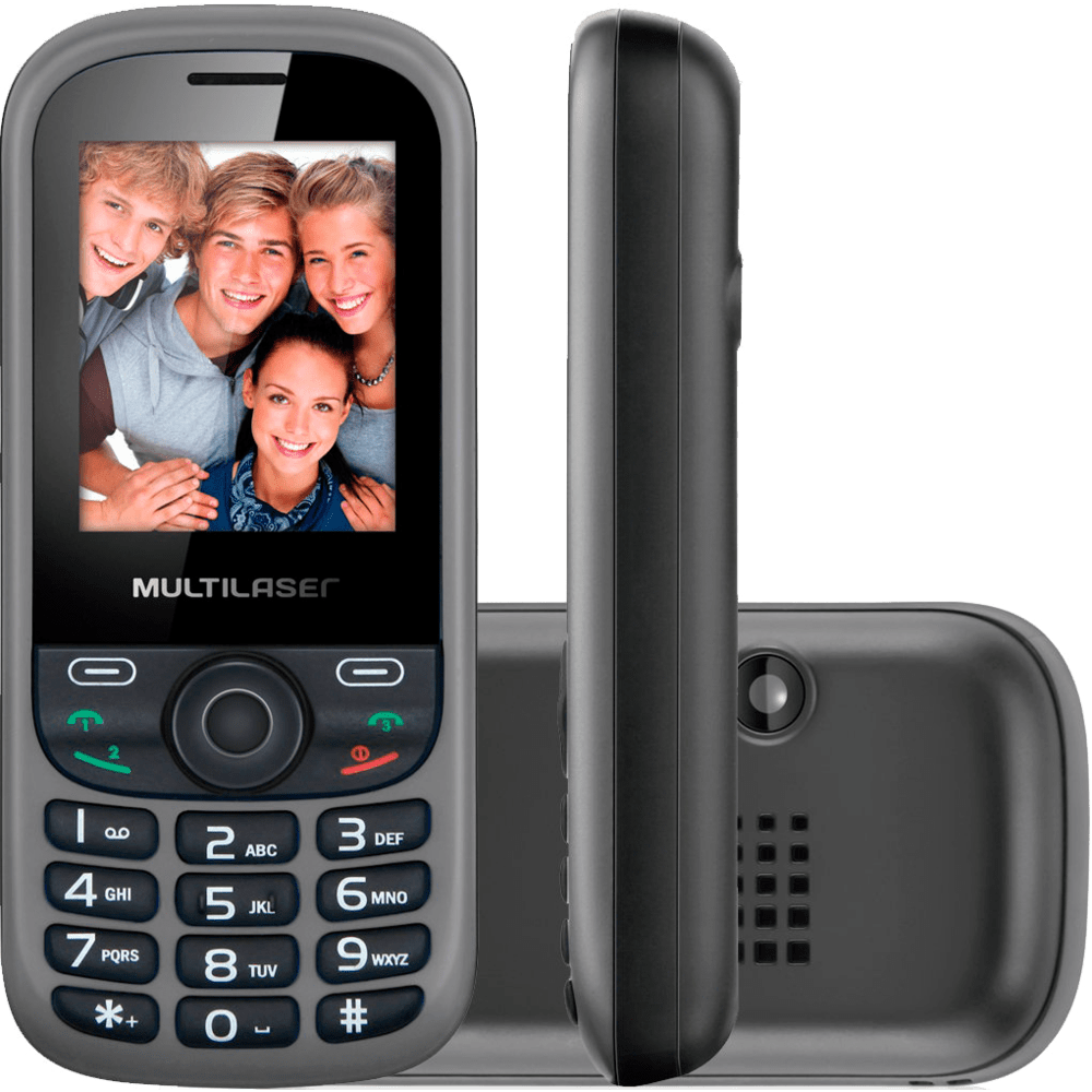 Celular Multilaser UP, Dual Chip, Bluetooth, MP3, Rádio FM, Preto - P3292