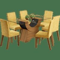 mesa-de-jantar-mdp-vidro-tecido-palha-7-pecas-madesa-tokio-rustico-preto-39001-0