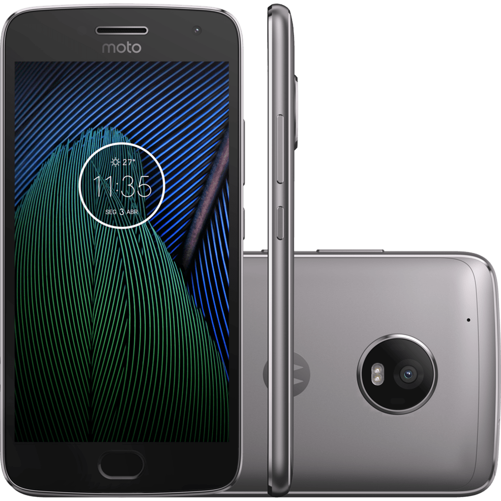 Smartphone Motorola Moto G5 Plus, Octa - Core, TV, Dual Chip, 32GB Platinum - XT1683