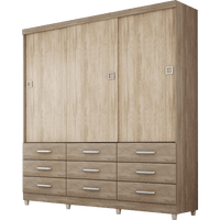 guarda-roupa-3-portas-9-gavetas-demobile-paraiso-nogal-vanilla-touch-39299-0