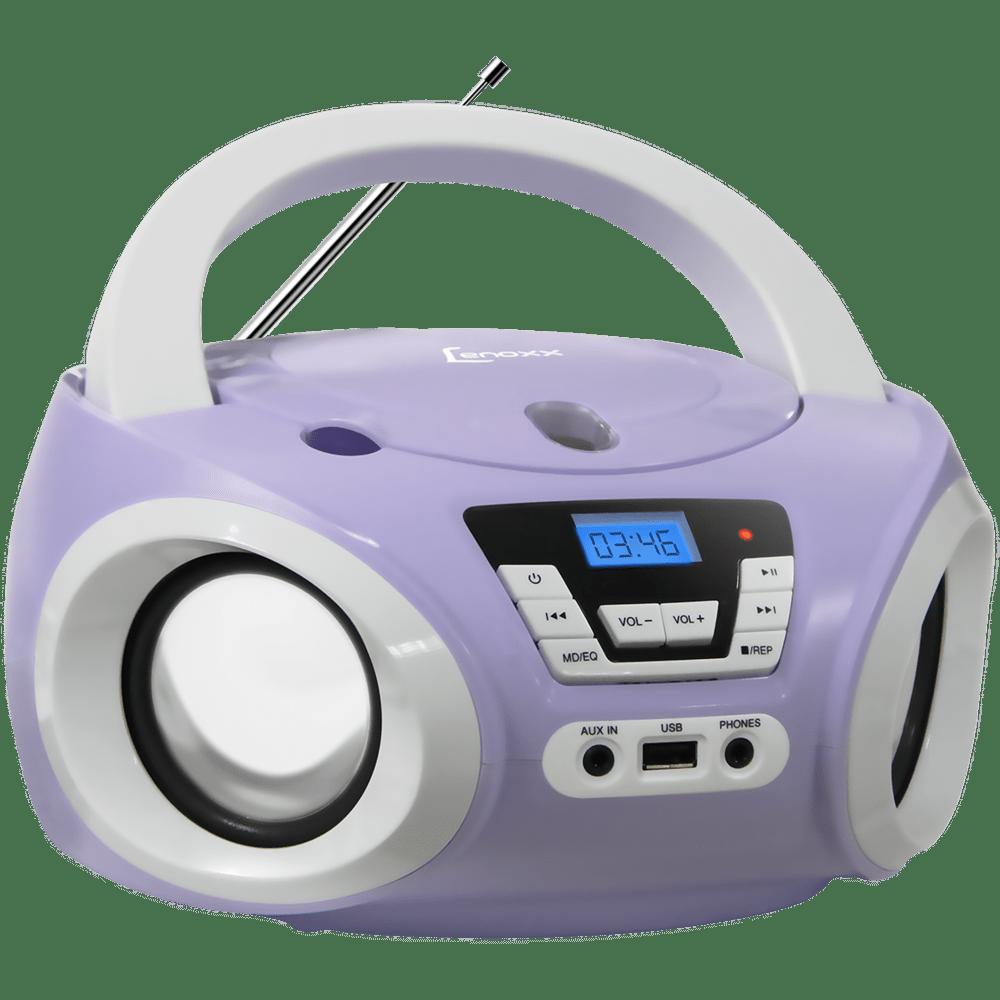 Rádio Portátil Boombox Lenoxx, Entrada USB, MP3 - BD121