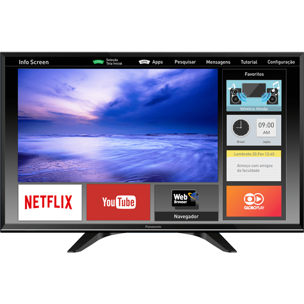 tv smart tv panasonic viera tc 32es600b 32 polegadas led. Black Bedroom Furniture Sets. Home Design Ideas