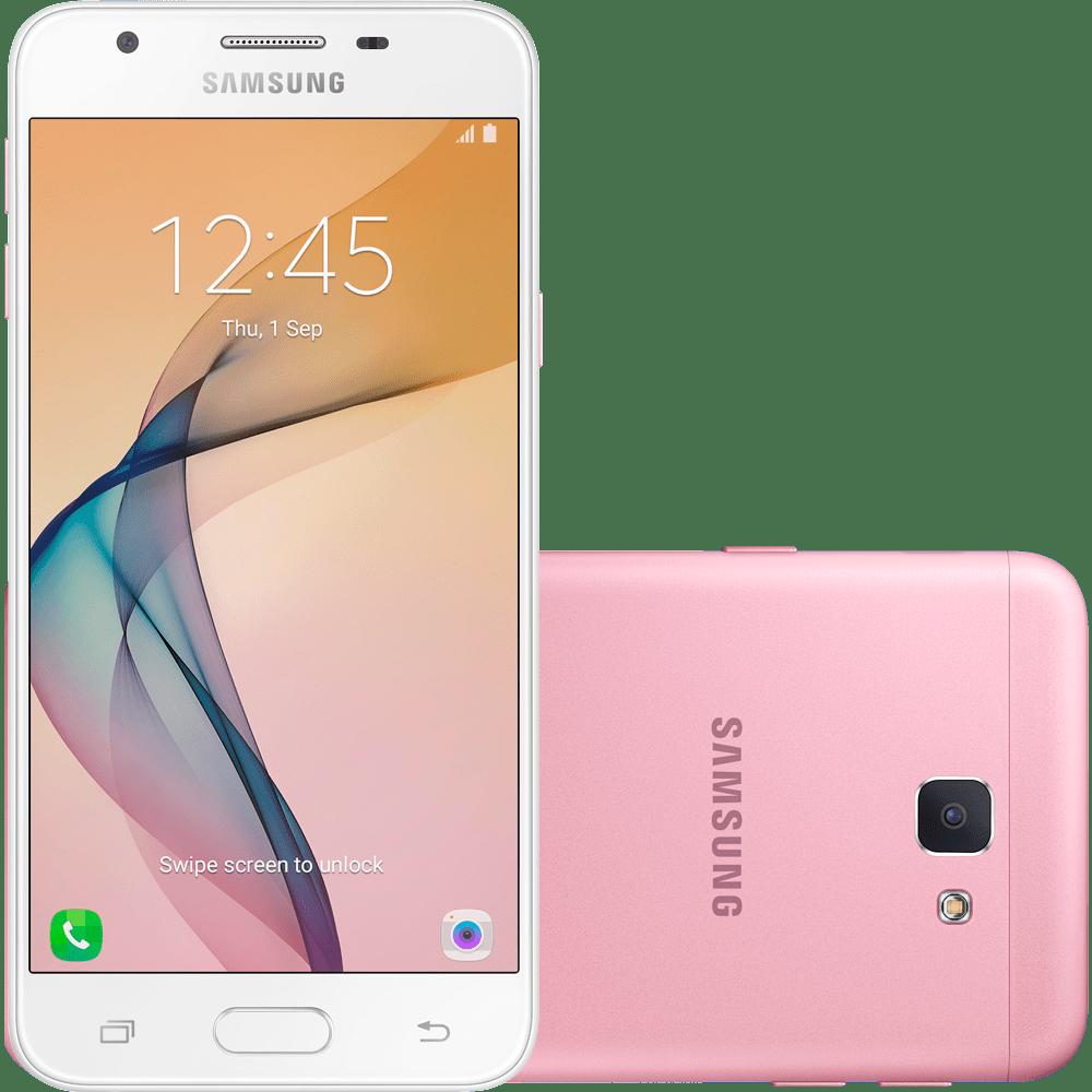 Smartphone Samsung Galaxy J5 Prime, Câmera 13MP, Quad - Core, 32 GB, Rosa - G570M