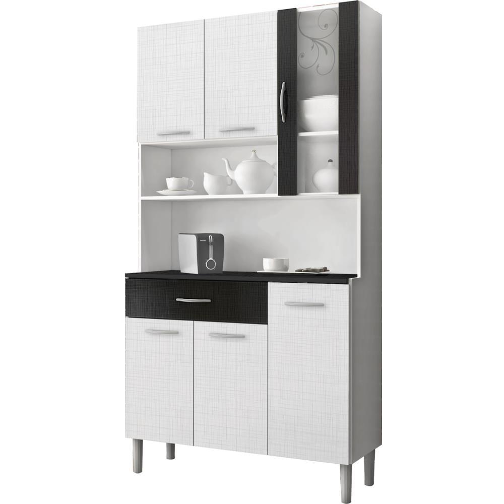 kit decoracao cozinha:kit-cozinha-kits-parana-golden-6-portas-1968698-brancopreto-linho-kit