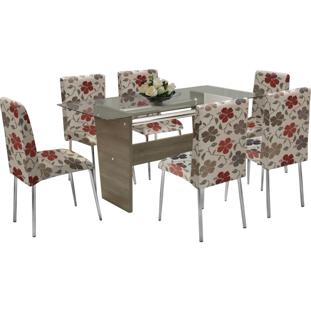 Mesa de jantar 6 cadeiras com tampo de vidro somopar for Sala de estar png