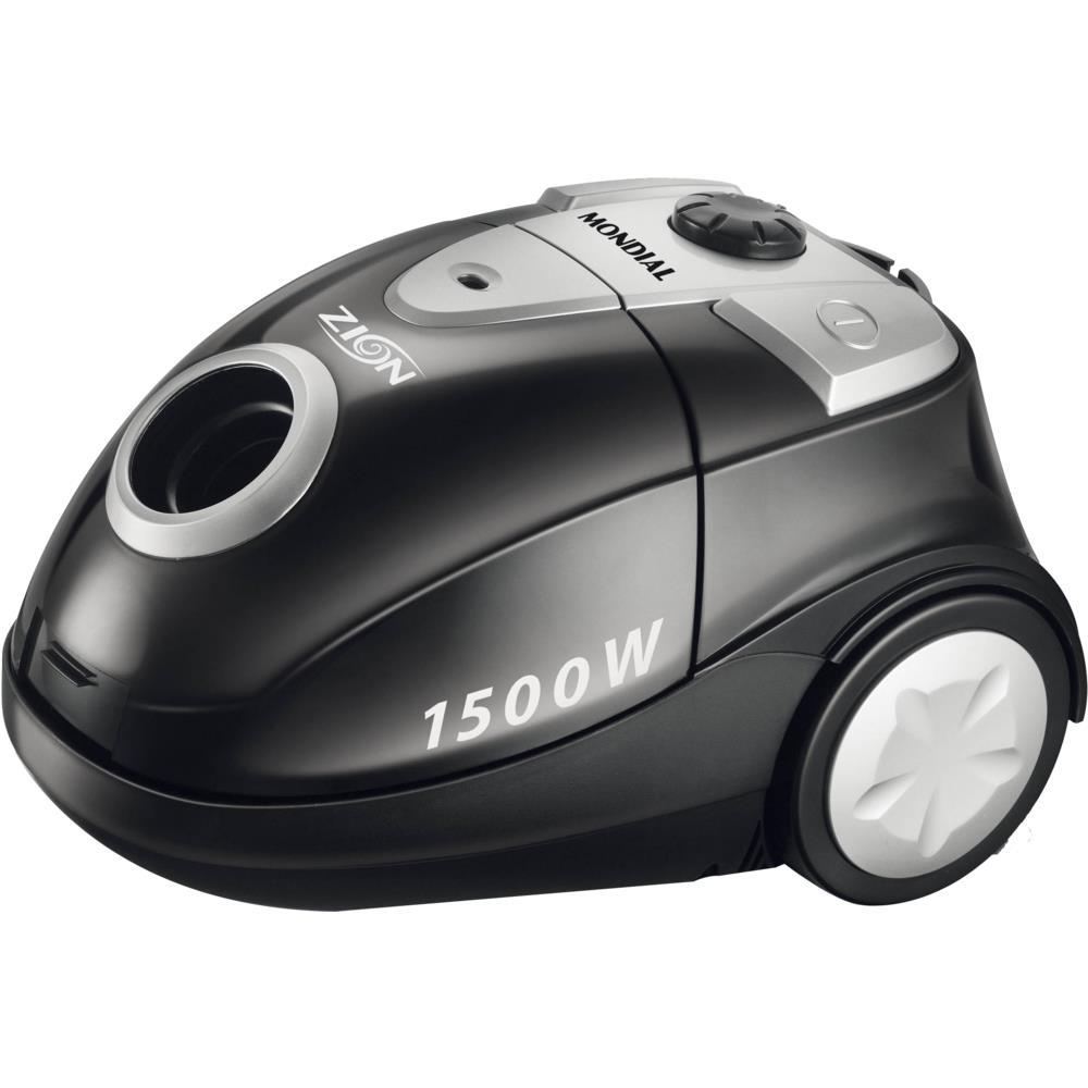 Aspirador de Pó Mondial Zion 1500W, Indicador de Coletor Cheio, Preto - NAP03 110V