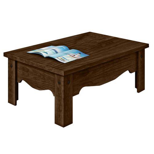 Mesa de centro com laminado de madeira nobre rv m veis - Fotos de mesas de centro ...