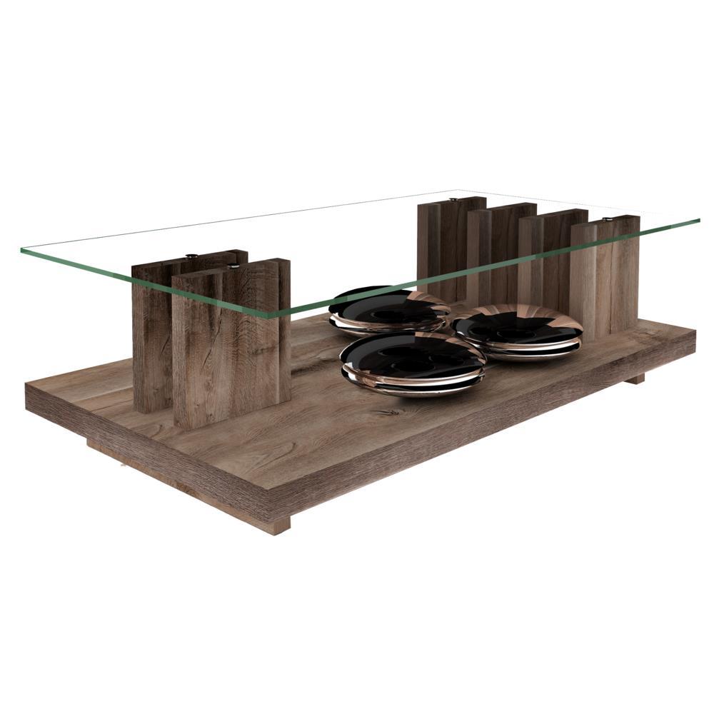 Mesa de centro com tampo de vidro dj m veis ris novo for Mesa de centro barcelona