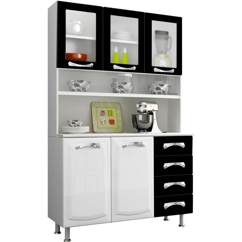Armario De Parede Cozinha Itatiaia : Wibamp armario cozinha itatiaia preto e branco