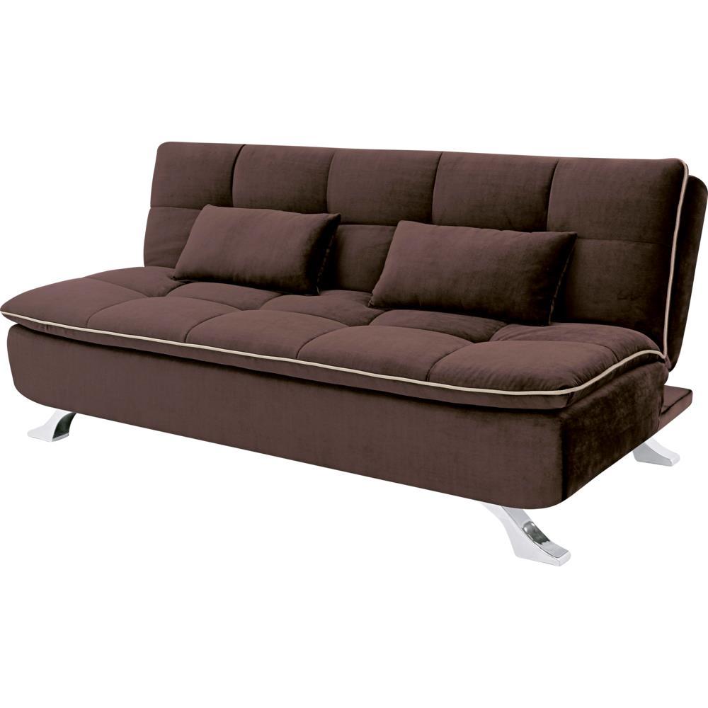 sof cama com tecido suede linoforte mayara novo mundo. Black Bedroom Furniture Sets. Home Design Ideas