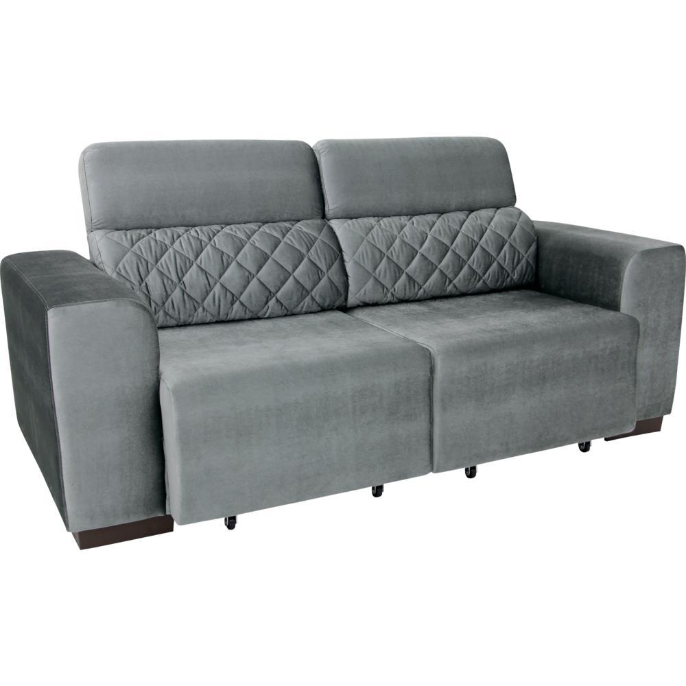 Sof 4 lugares retr til com tecido suede linoforte for Sofa 4 lugares retratil