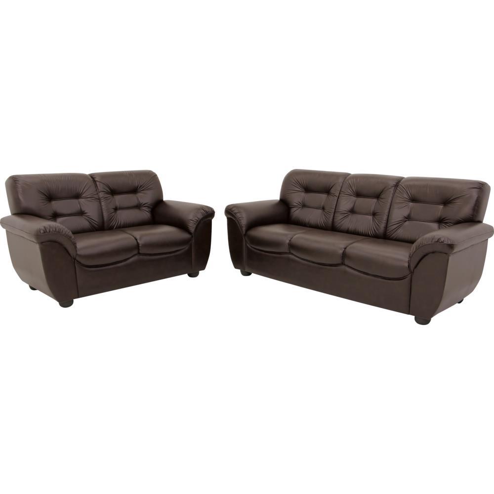 Sof 2 e 3 lugares com tecido corino linoforte bano for Casas de sofas en montigala