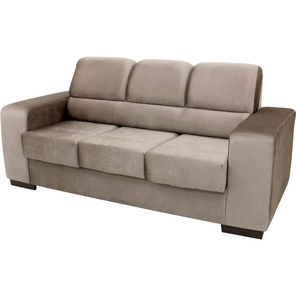 Sof 3 lugares retr til com tecido suede linoforte vogue - Sofa para tres ...