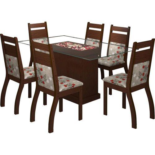 Sala De Jantar Novo Mundo ~  de Jantar 6 Cadeiras, Retangular  Viero Móveis Clara  Novo Mundo