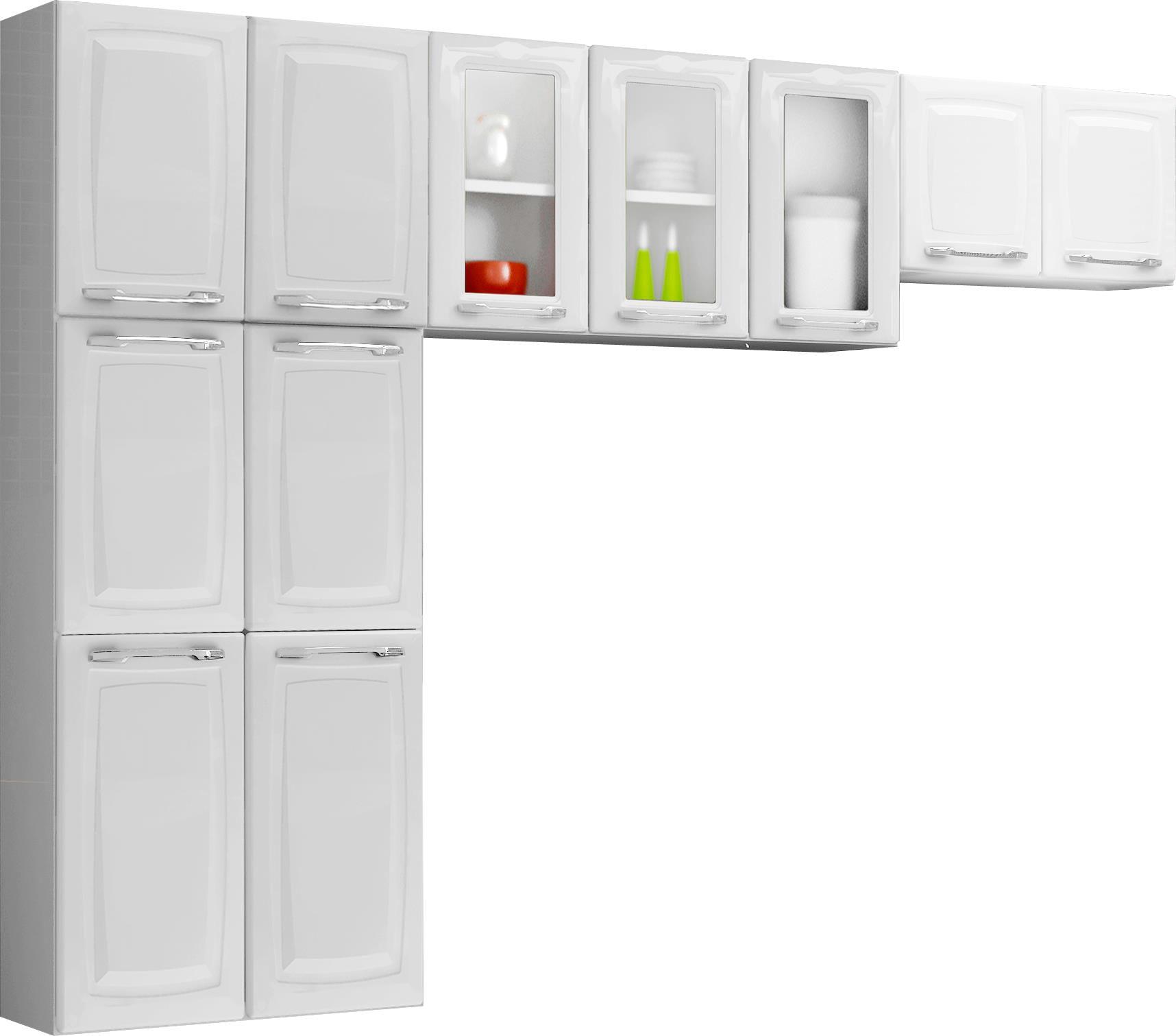#A2C00B Cozinha de Aço 3 Peças Itatiaia Criativa Max II Branco Cozinha de  1716x1511 px Armario De Cozinha Compacta 3 Peças #1915 imagens