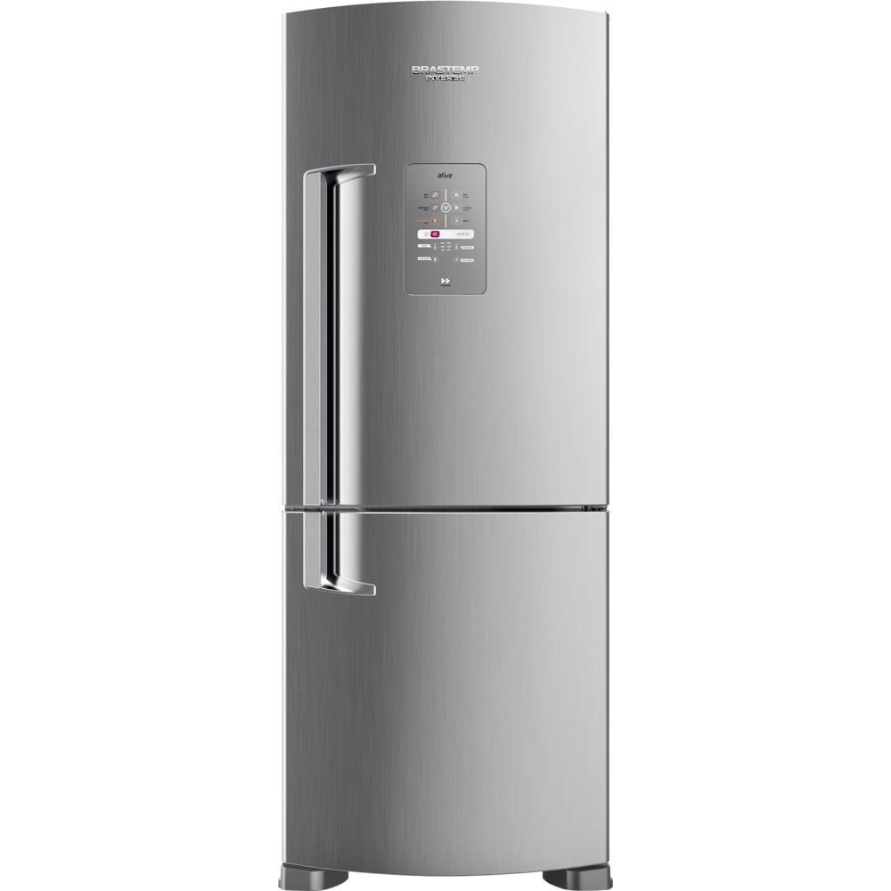 Geladeira / Refrigerador Brastemp, Frost Free, 2 Portas, Inverse, 422L, Evox - BRE50NK 220V