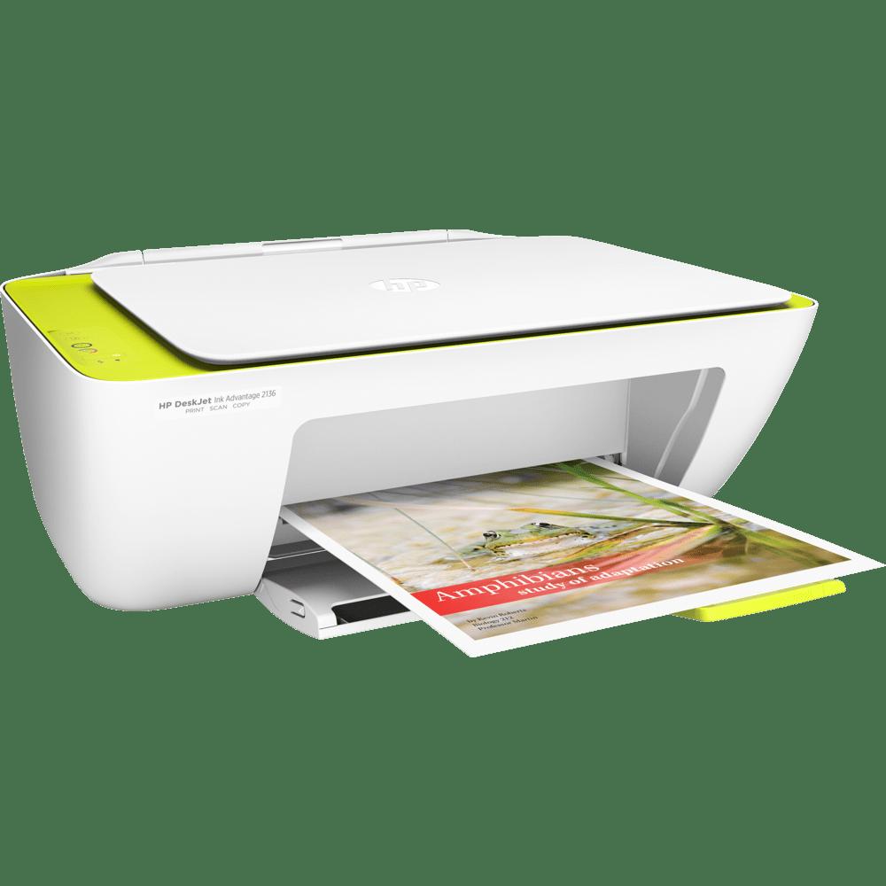 Impressora Multifuncional Hp, Deskjet Ink Advantage - 2136 Bivolt