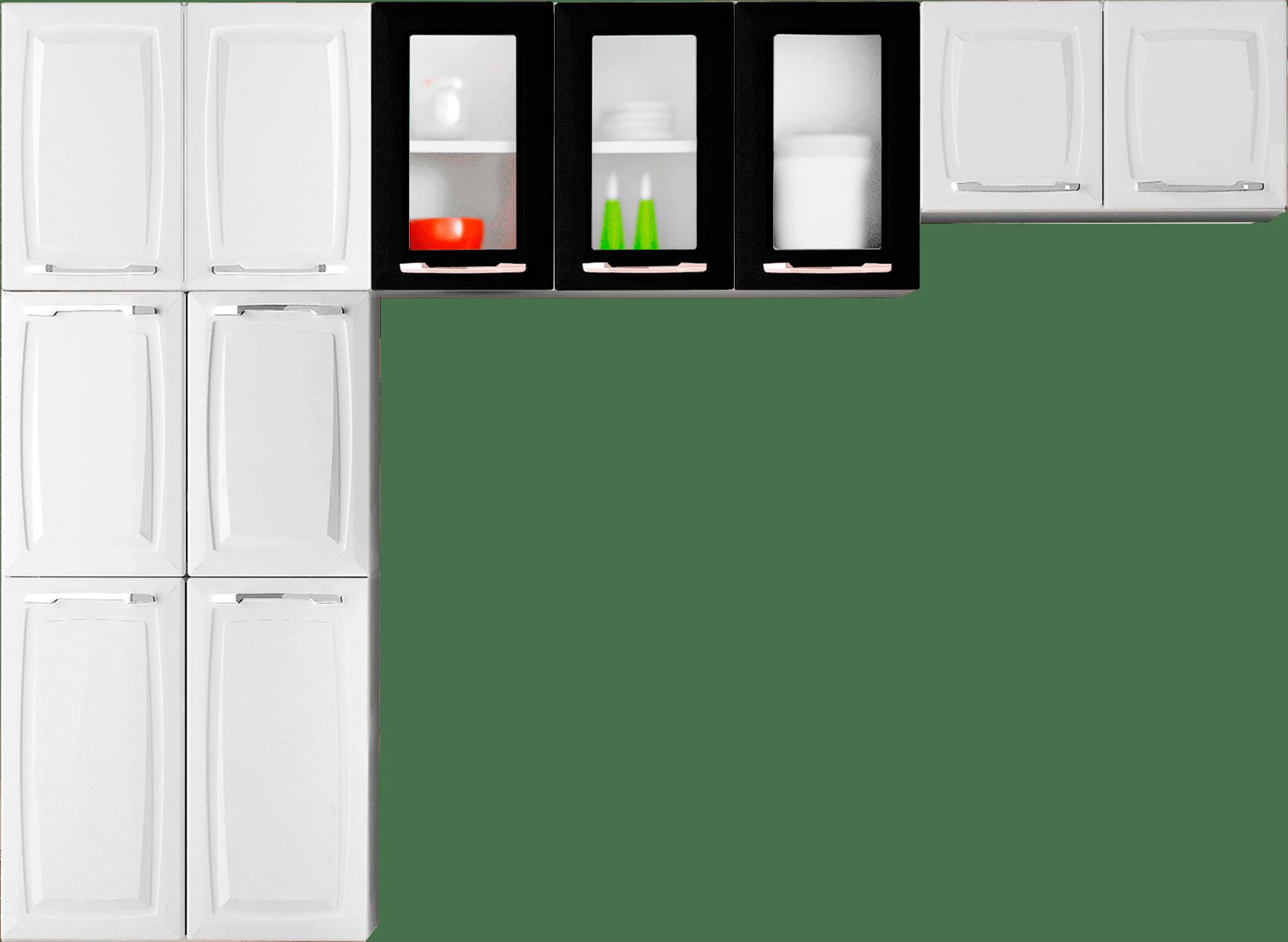 #C81B03 Cozinha de Aço 3 Peças Itatiaia Criativa Max II Branco / Preto 1641x1200 px Armario De Cozinha Compacta Buscape #1929 imagens