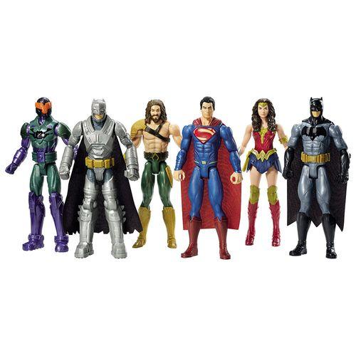 Bonecos Articulados 30 Cm Batman Vs Superman a Origem da Justiça Conjunto Mattel