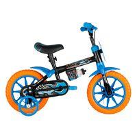 BicicletaAro12HotwheelsPretaCaloi