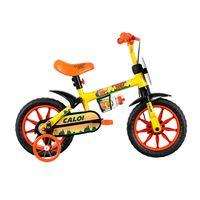BicicletaAro12PowerRexAmarelaCaloi