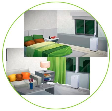 Funções ar condicionado consul