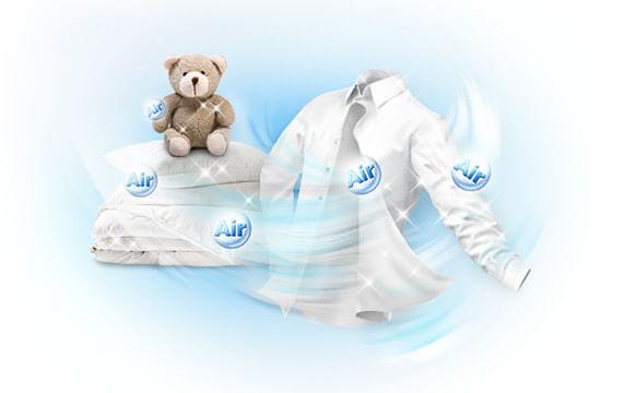 Recurso AIR Wash para lavar roupas a seco. Lava e Seca BWD106UHSAWQ