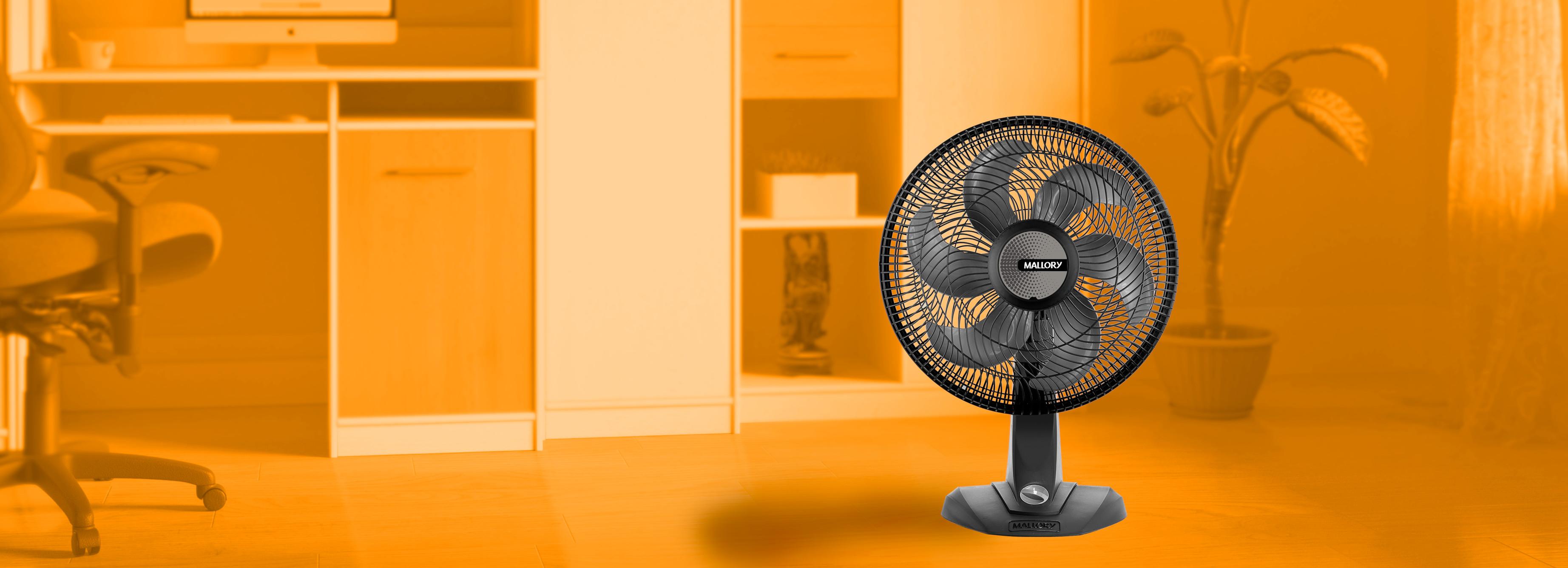 Ventilador Mallory Olimpo TS, 6 Pás, 40cm, Preto - B9440089