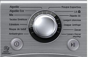 Programas de lavagem Lava e Seca WD1412RTA
