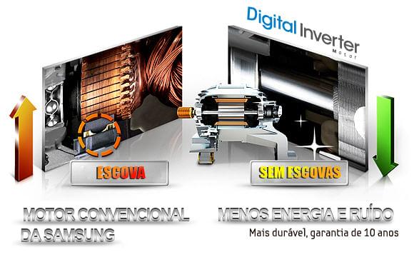 Motor com tecnologia Digital Inverter. Lava e Seca BWD106UHSAWQ