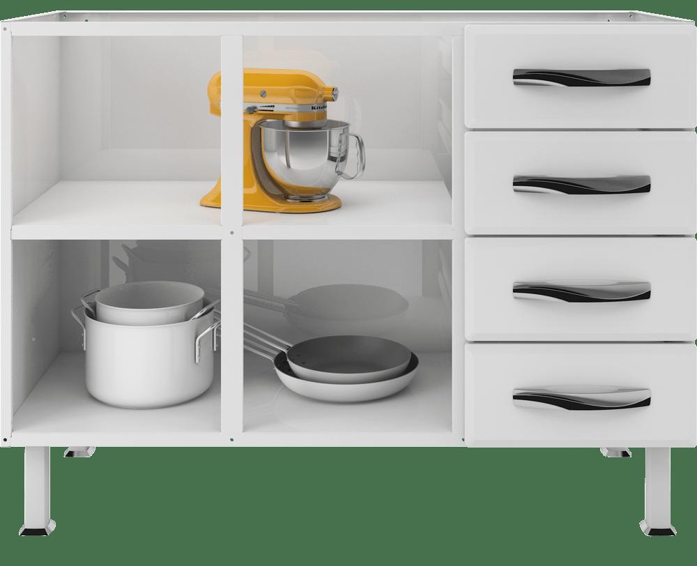 Balcão de Cozinha em Aço Colormaq Ipanema Master imagem interna