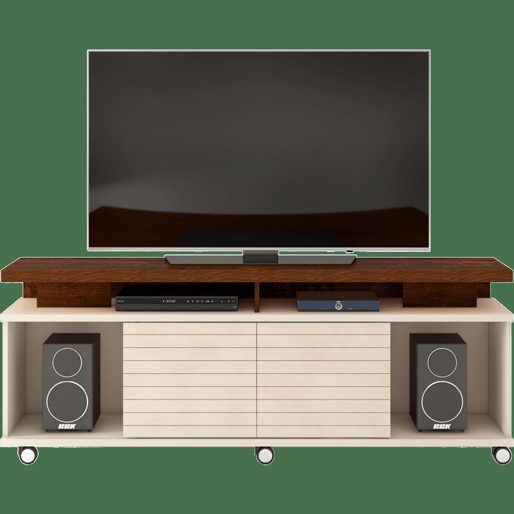 Bancada em MDP e MDF para TV de 70 - Dj Móveis Cora