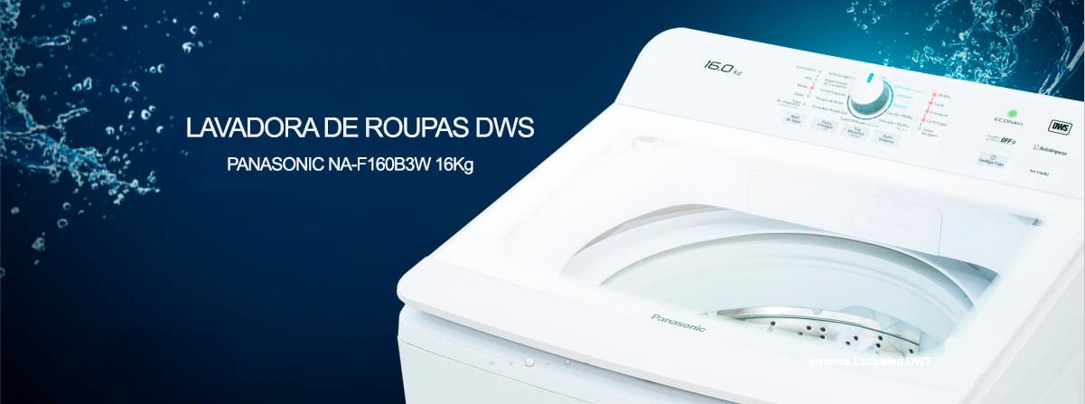 Lavadora de roupas Panasonic DWS 16 Kg