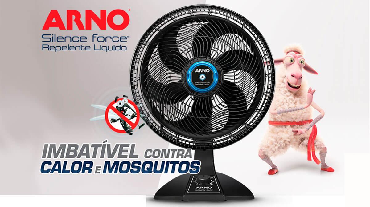 Banner Ventilador Arno Turbo Silence Repelente
