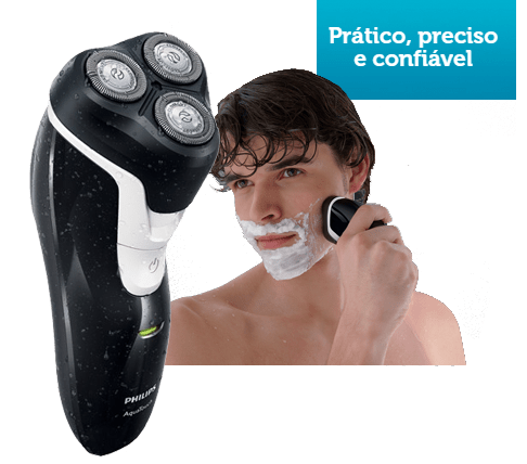 Barbeador Philips AquaTouch AT610/ 14 Seco e Molhado