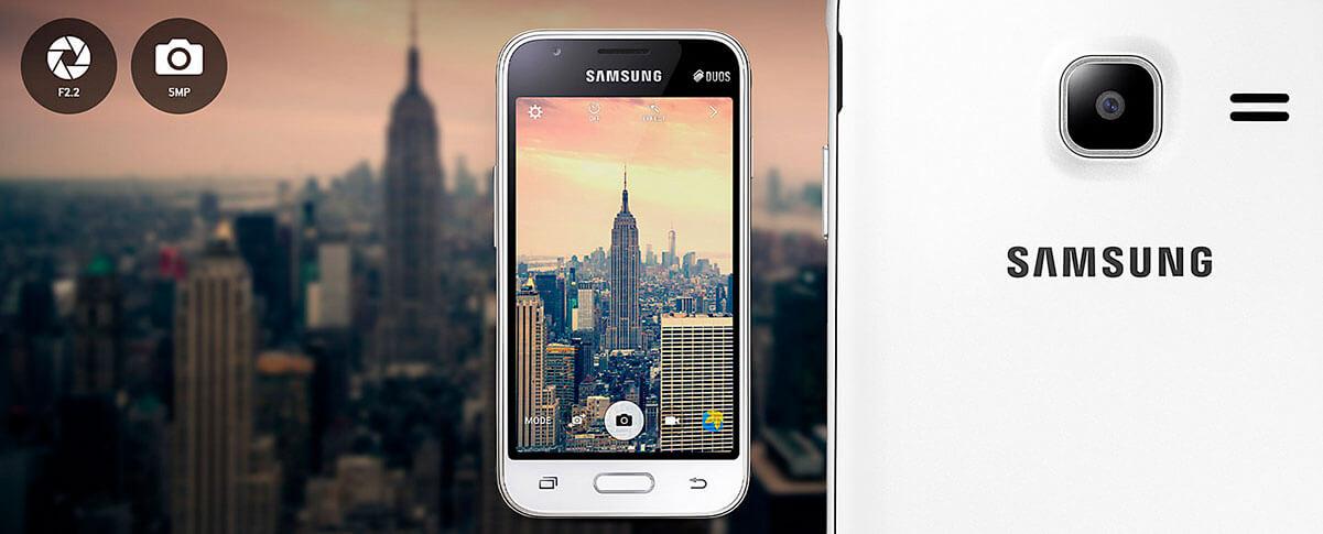 Câmera Galaxy J1 Mini