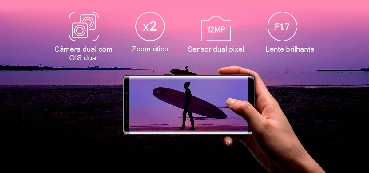 Câmera Galaxy Note 8