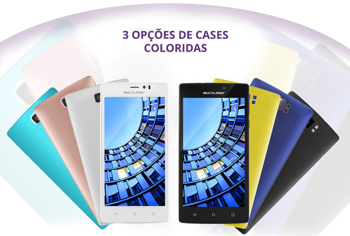 Cases coloridas Smartphone Multilaser MS60