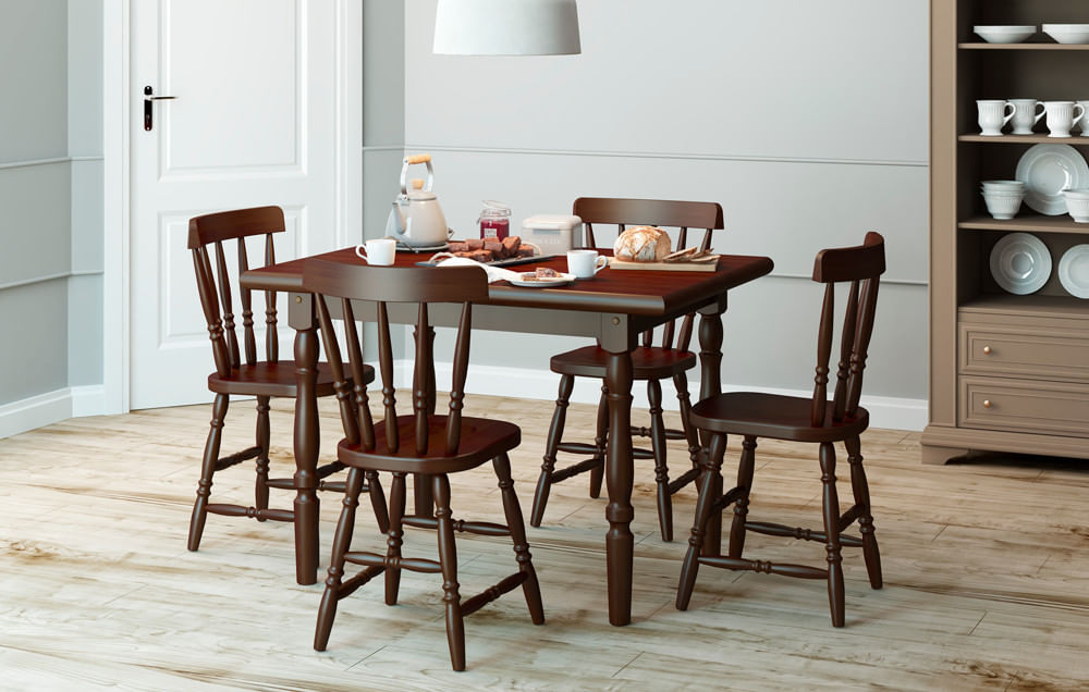 Conjunto de cadeiras lile madeira macica