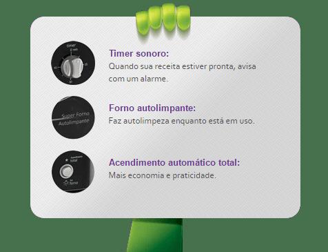 Detalhes Fogão Topázio Esmaltec 5Q