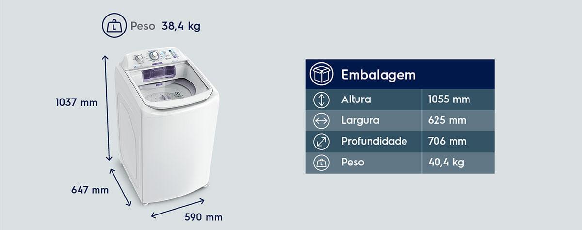 Dimensões Lavadora Electrolux LAC11