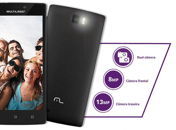 Dual Câmera Operacional Smartphone Multilaser MS60