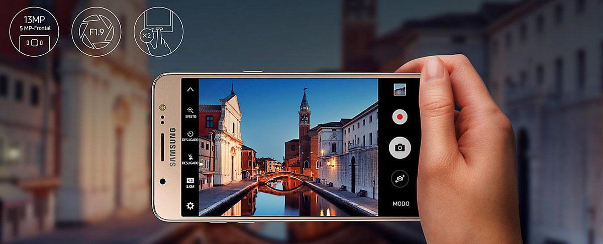 Câmera Galaxy J5 Metal
