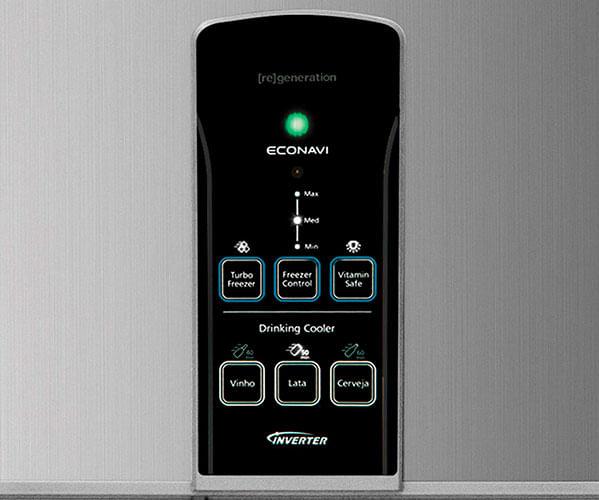 Refrigerador Panasonic NR-BT49PV2X com Econavi e Inverter