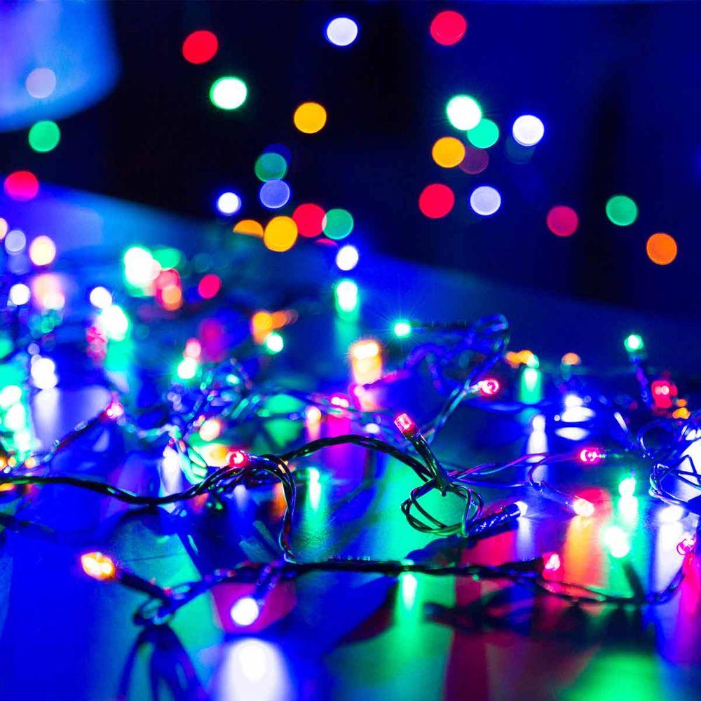 Cord O Luminoso Pisca Pisca 100 Leds Colorido 220v Taschibra