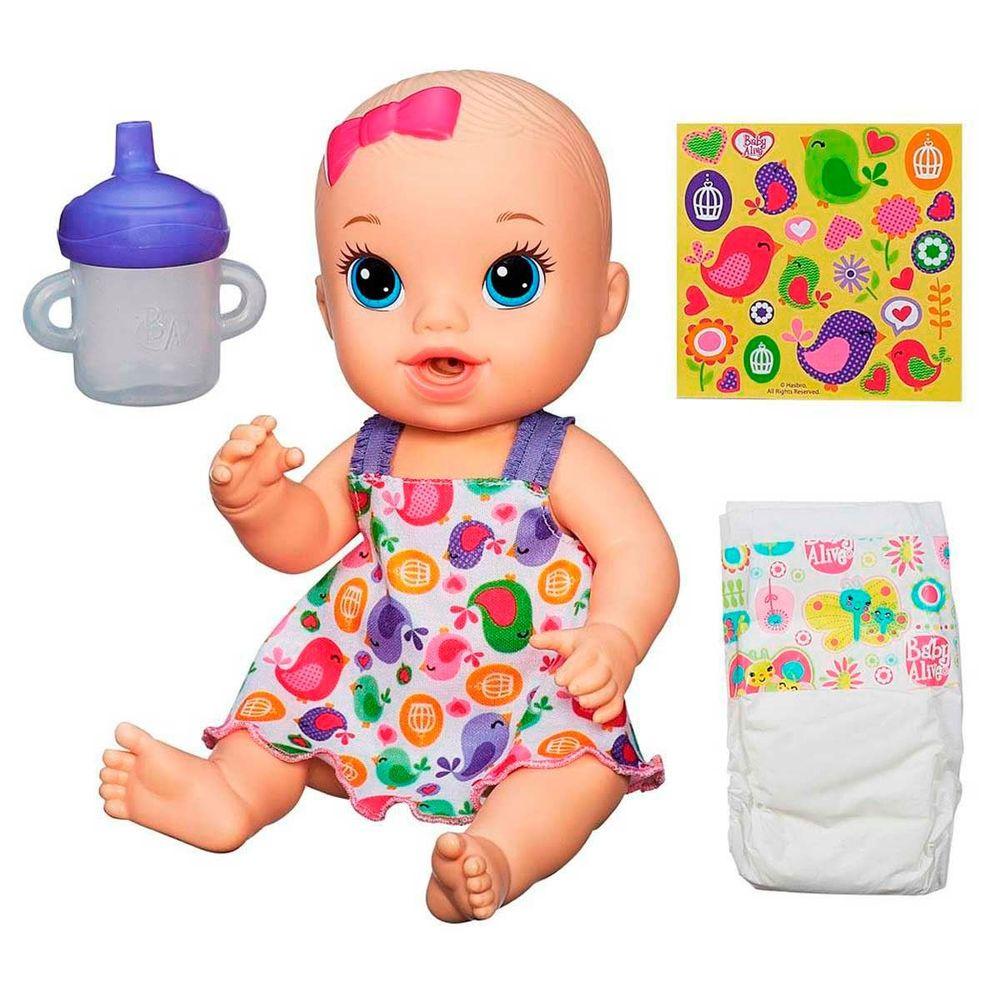 509b509d8e Boneca Baby Alive Loira Hora do Xixi A9290 - Hasbro - Novo Mundo