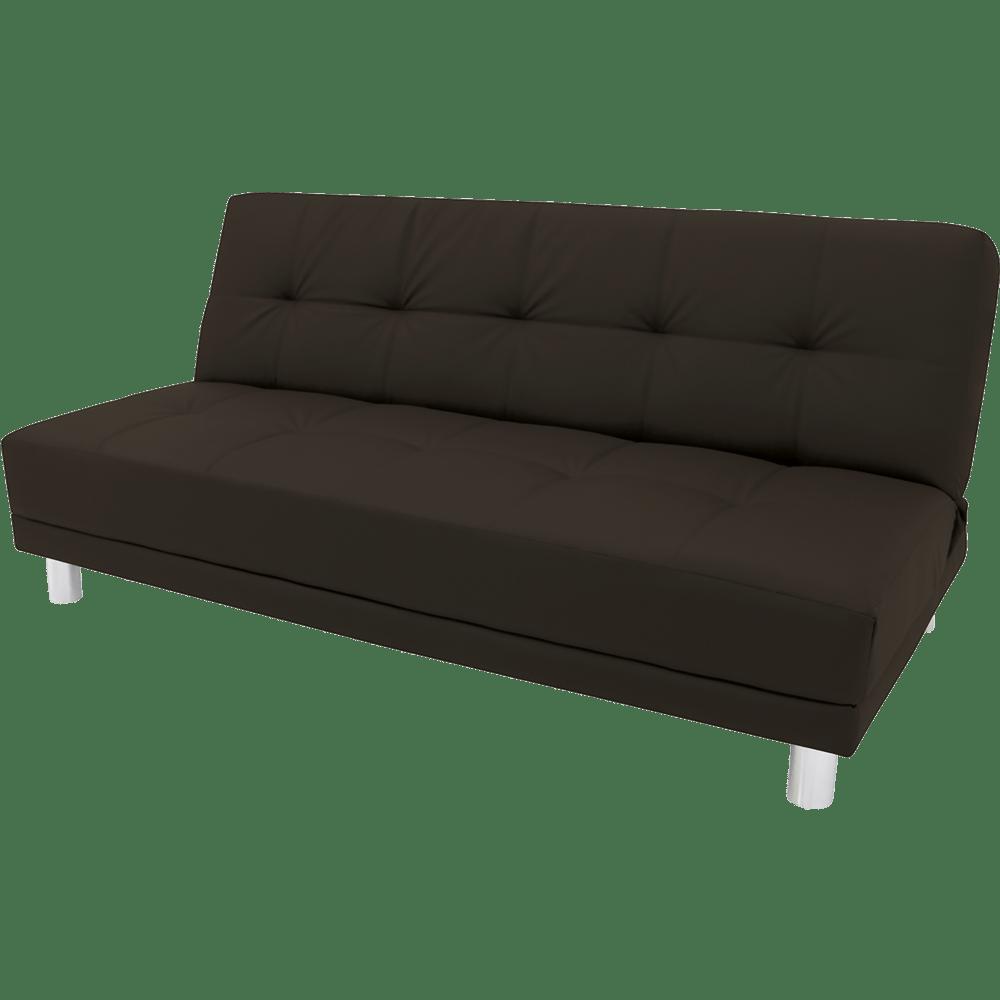 Sof cama com tecido pu linoforte brenda novo mundo for Sofa cama dos camas