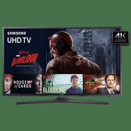 Smart TV LED 4K Flat, Samsung 55, UHD, Wi-Fi, HDMI e USB - UN55KU6000G