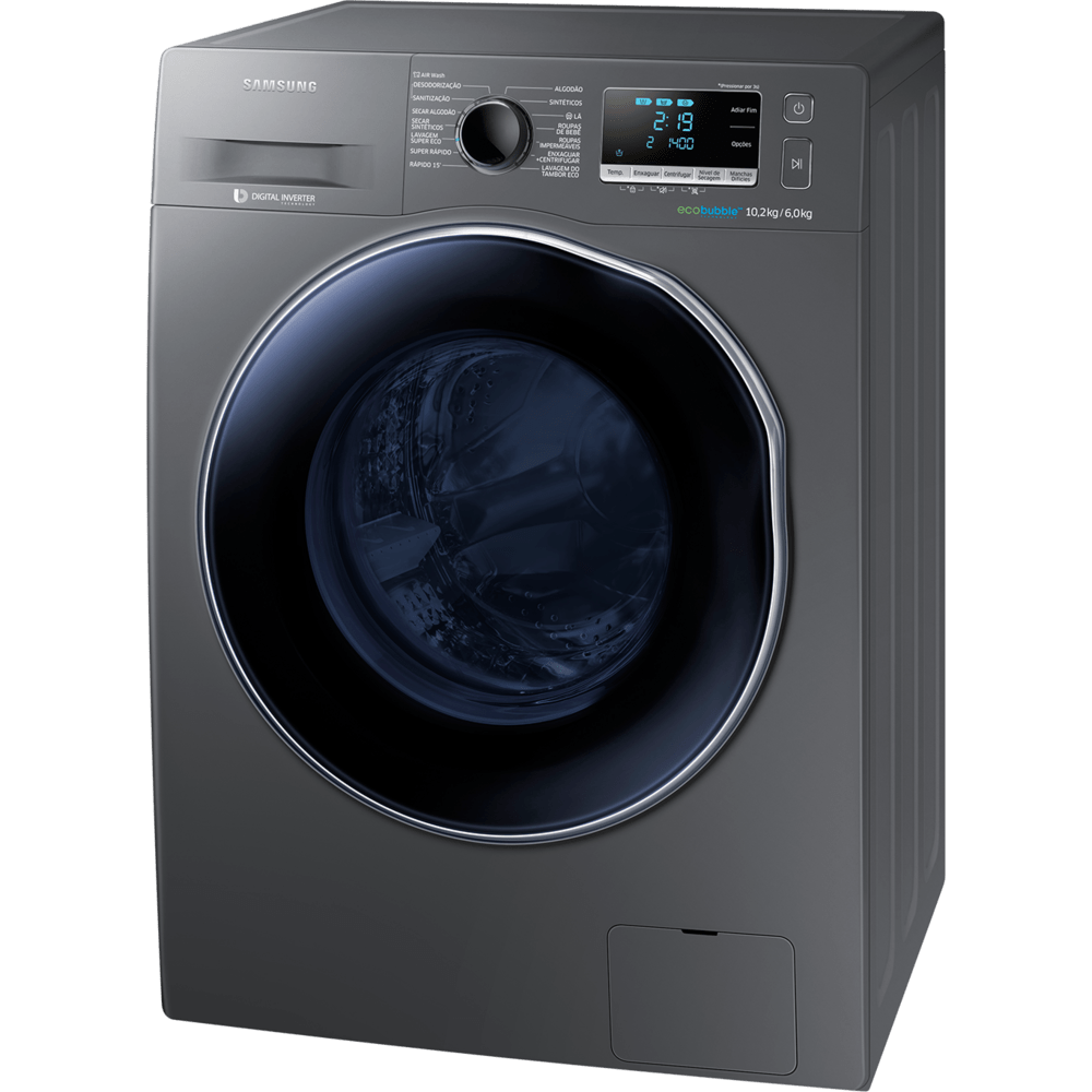 lavadora e secadora de roupas samsung digital inverter 10 2kg inox rh novomundo com br manual lavadora e secadora samsung wd9102rnw manual lavadora e secadora samsung wd8854rjf